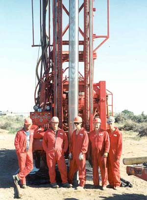 water well drilling team